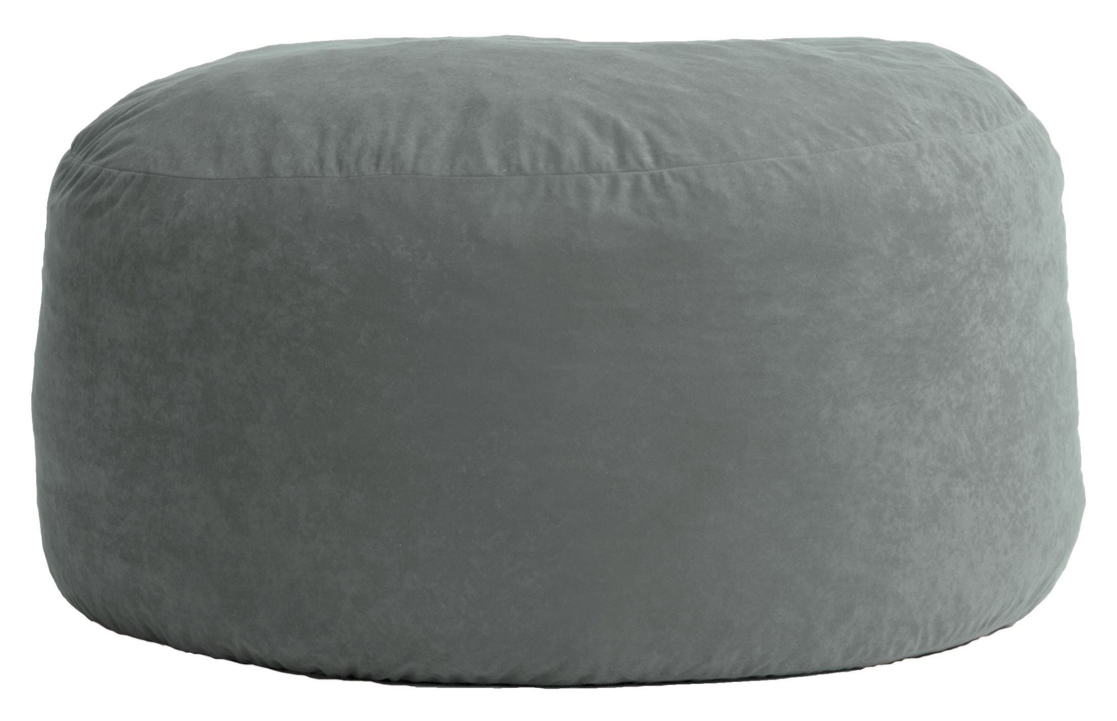 Big Joe Large Fuf Steel Grey Comfort Suede Bean Bag From