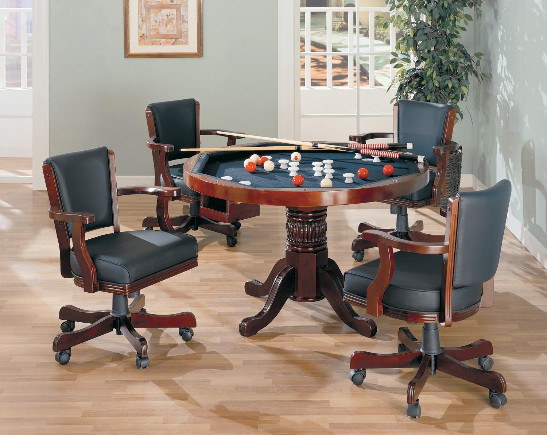Gaming 3 In 1 Cherry Poker Bumper Pool Dining Set   100201