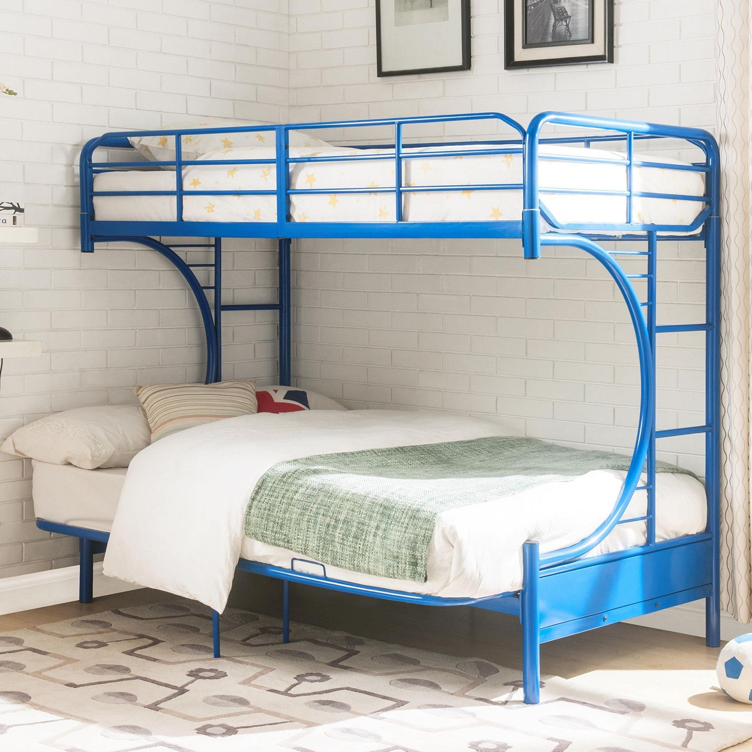 Eclipse Blue Twin Over Full Futon Bunk Bed From Acme
