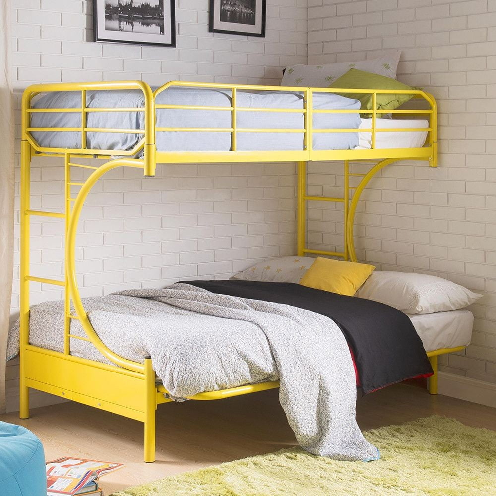 Eclipse Yellow Twin Over Full Futon Bunk Bed From Acme