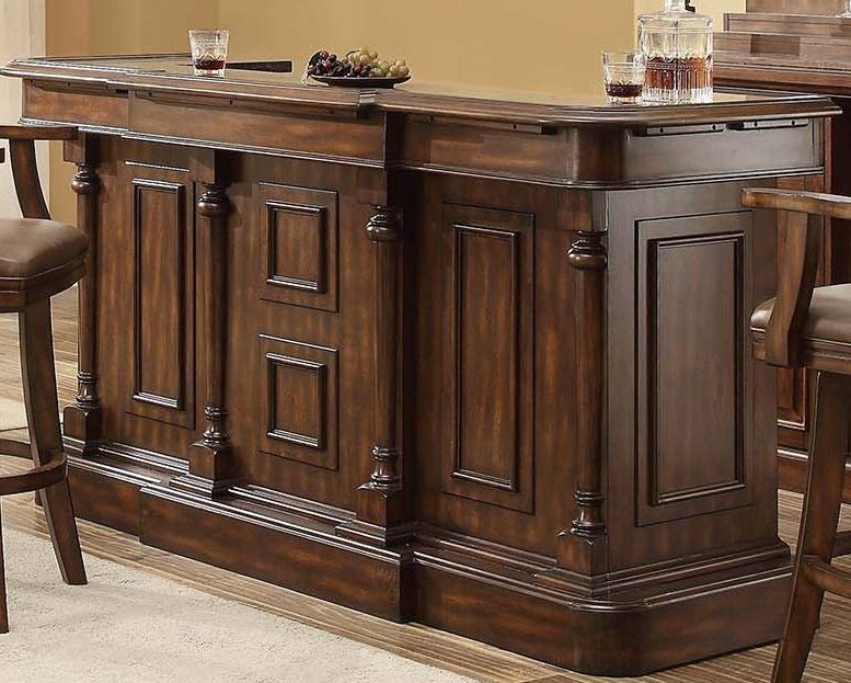 Trafalgar Square Walnut Deluxe Bar From Eci Furniture