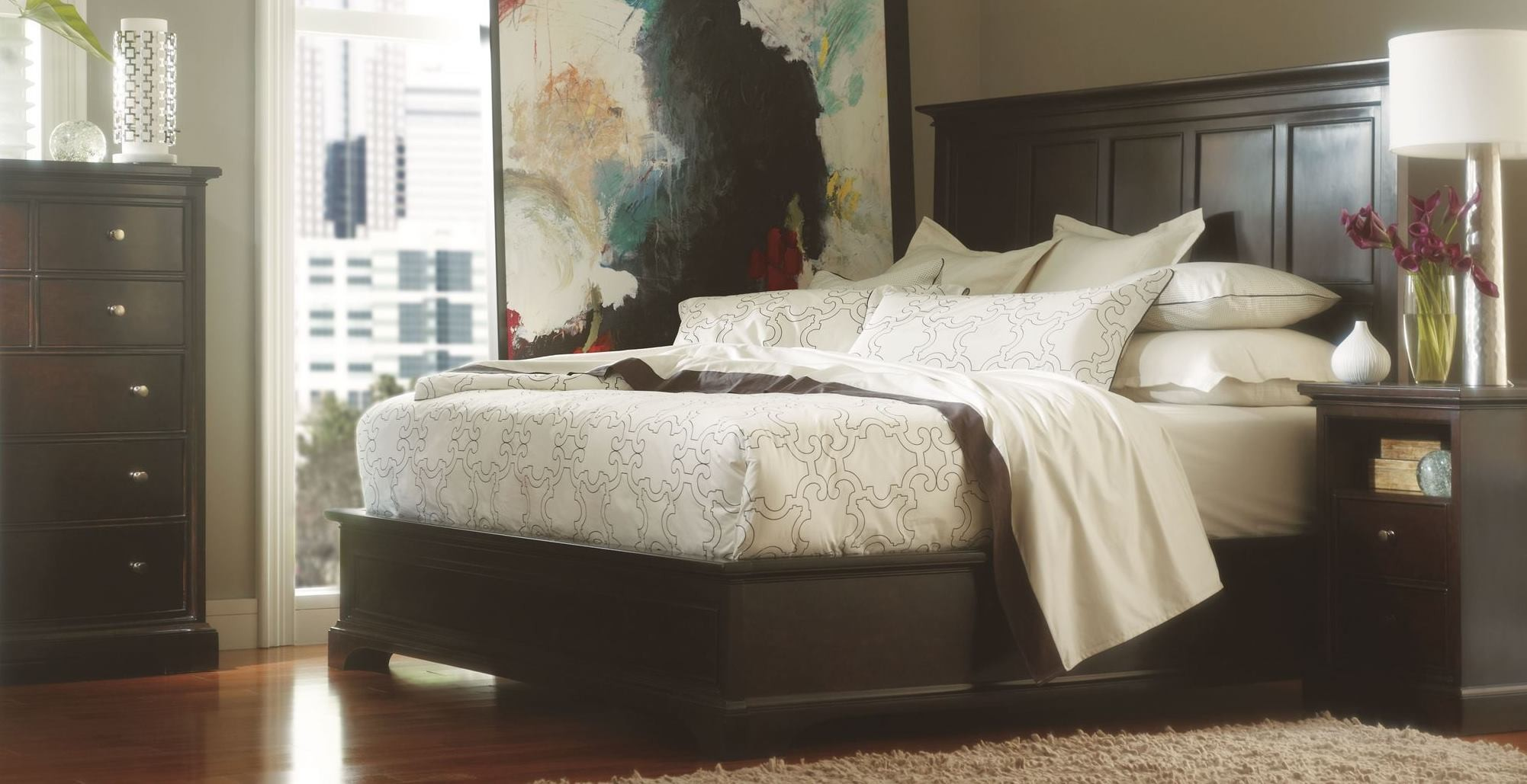 Transitional Platfrom Bedroom Set From Stanley 042 13 40 Coleman Furniture