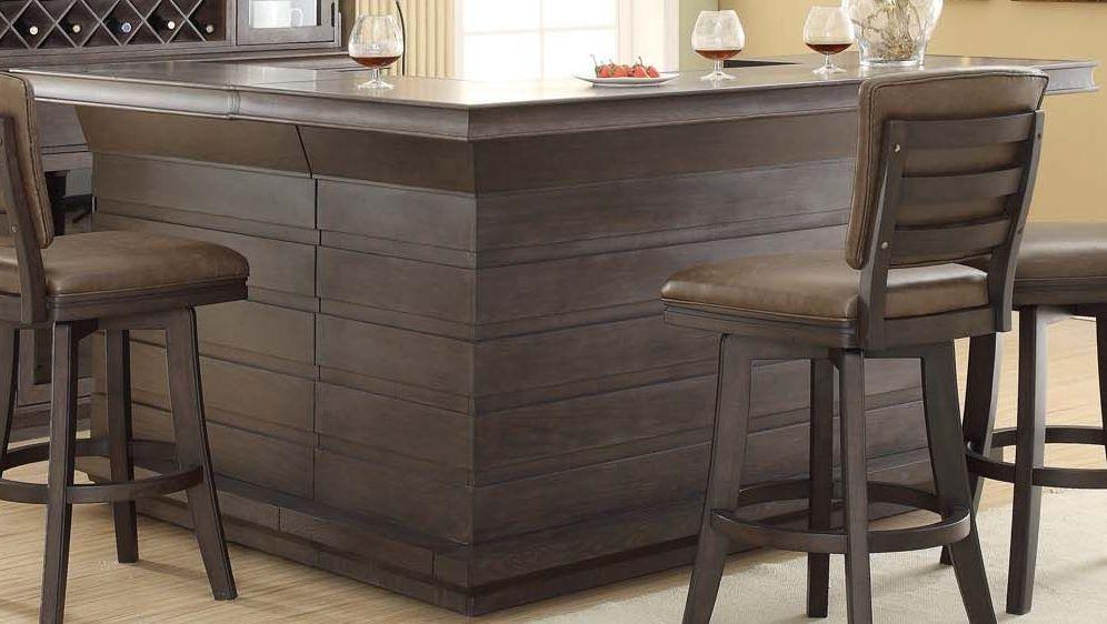 Toscana Distressed Birch Return Bar From Eci Furniture Coleman Furniture