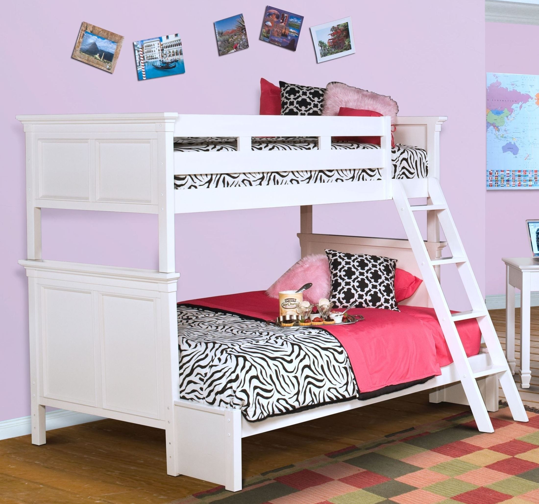 Cheap New Beds: Tamarack White Twin Over Full Bunk Bed From New Classics