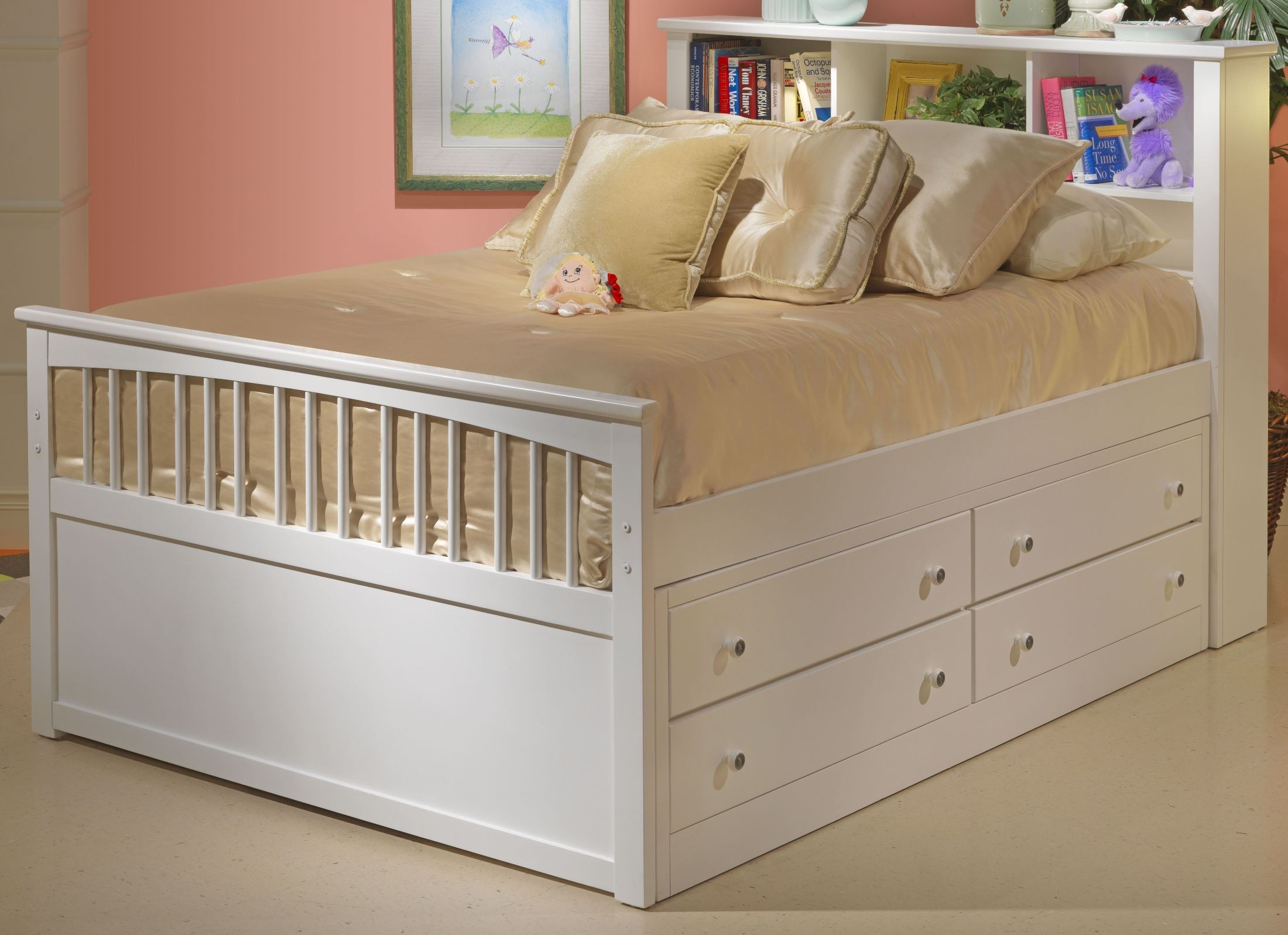 Bayfront White Youth Captain 39 S Bedroom Set From New Classics 1415 517 527 537 098 Coleman