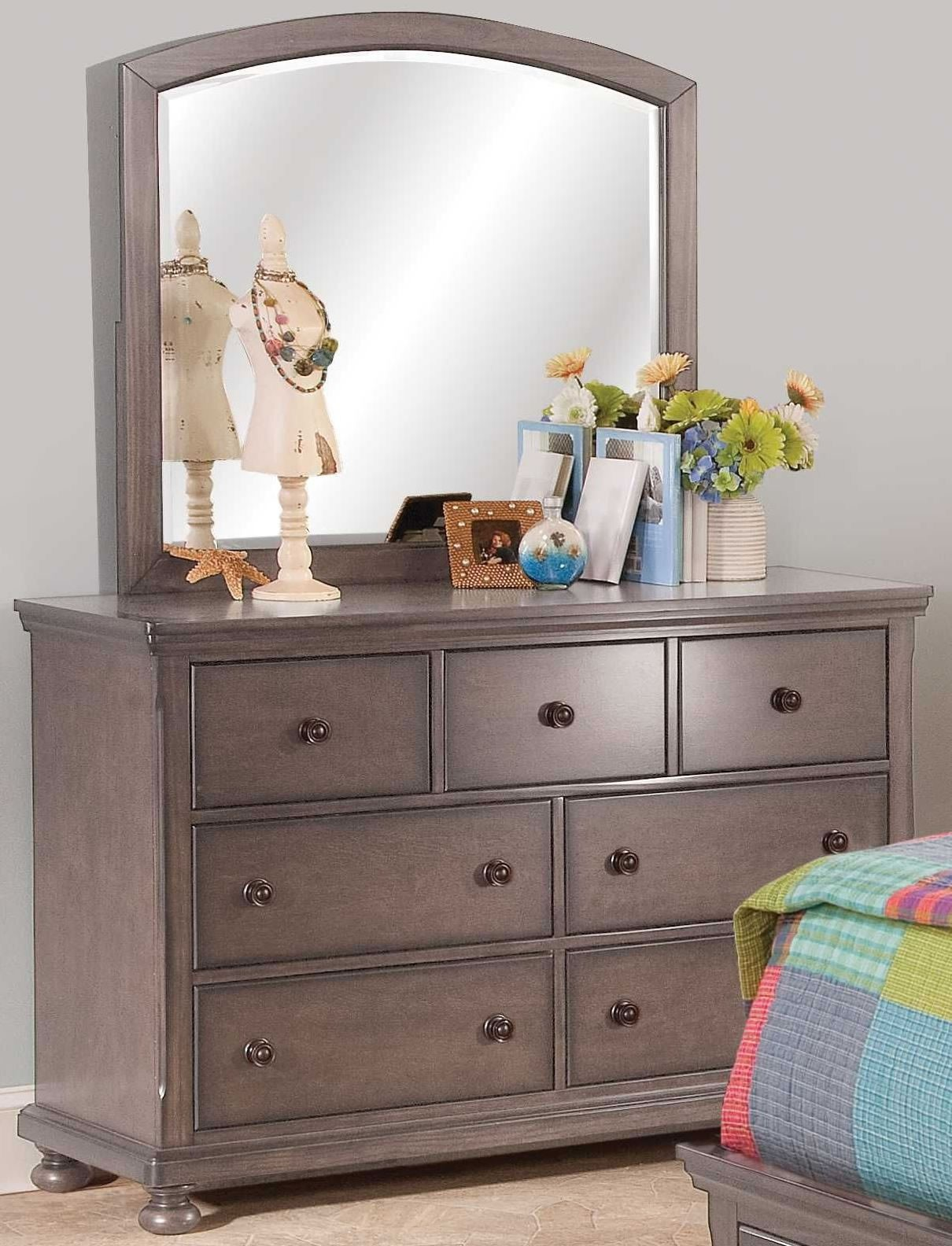 Allegra youth pewter youth sleigh storage bedroom set - Youth bedroom furniture with storage ...