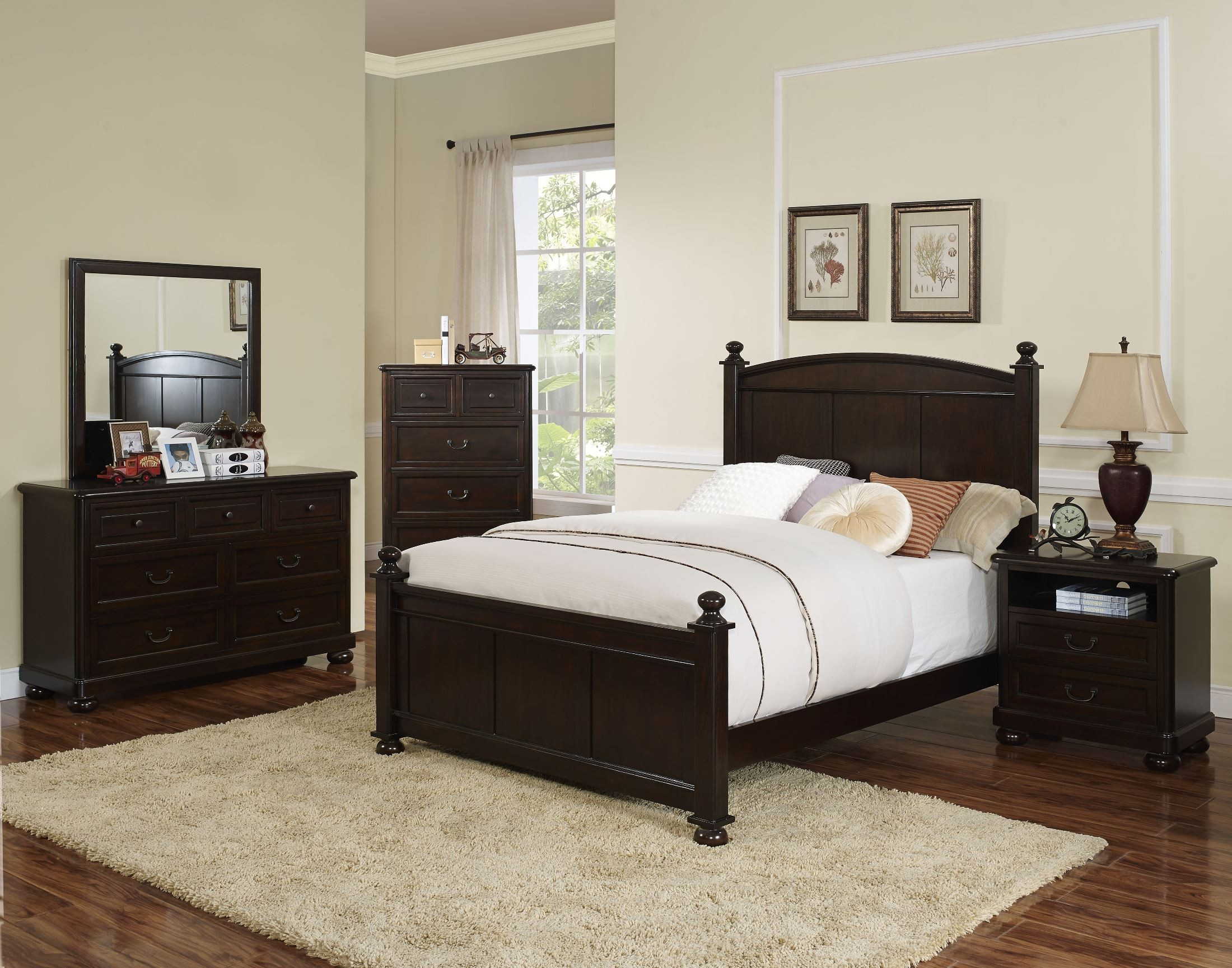 Canyon ridge african chestnut youth poster bedroom set for Youth bedroom furniture
