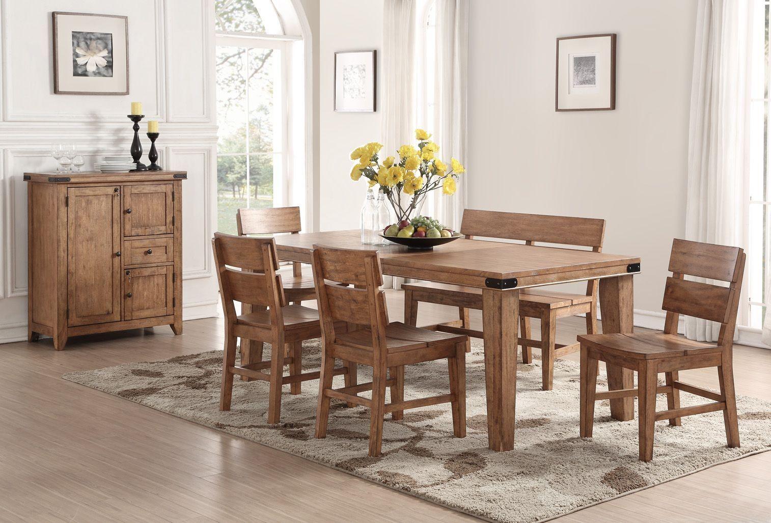 Shenandoah light rustic dining room set