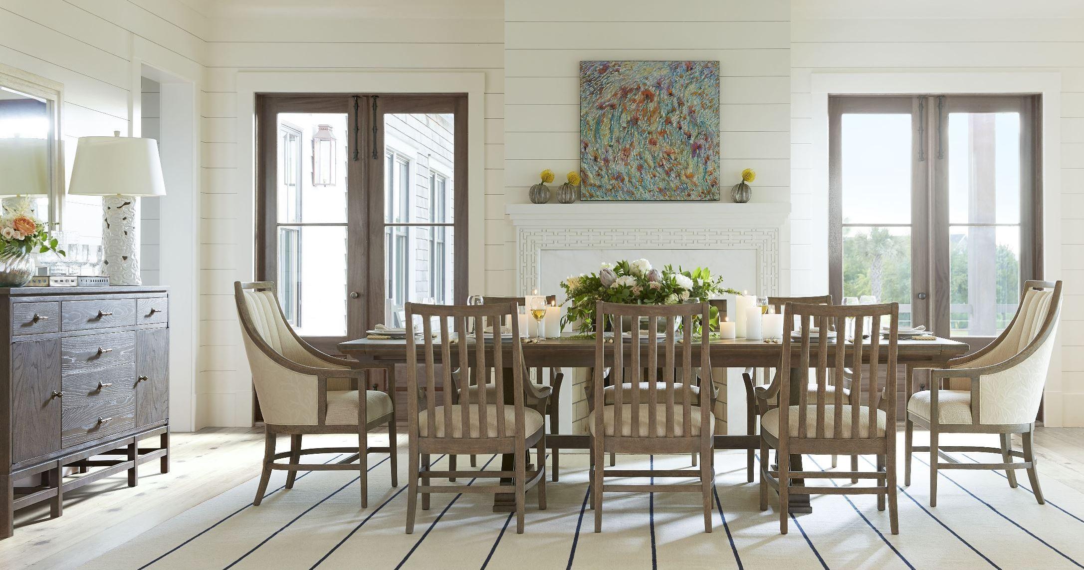 Resort Deck Shelter Bay Extendable Rectangular Dining Room ... on Living Room Deck id=62801