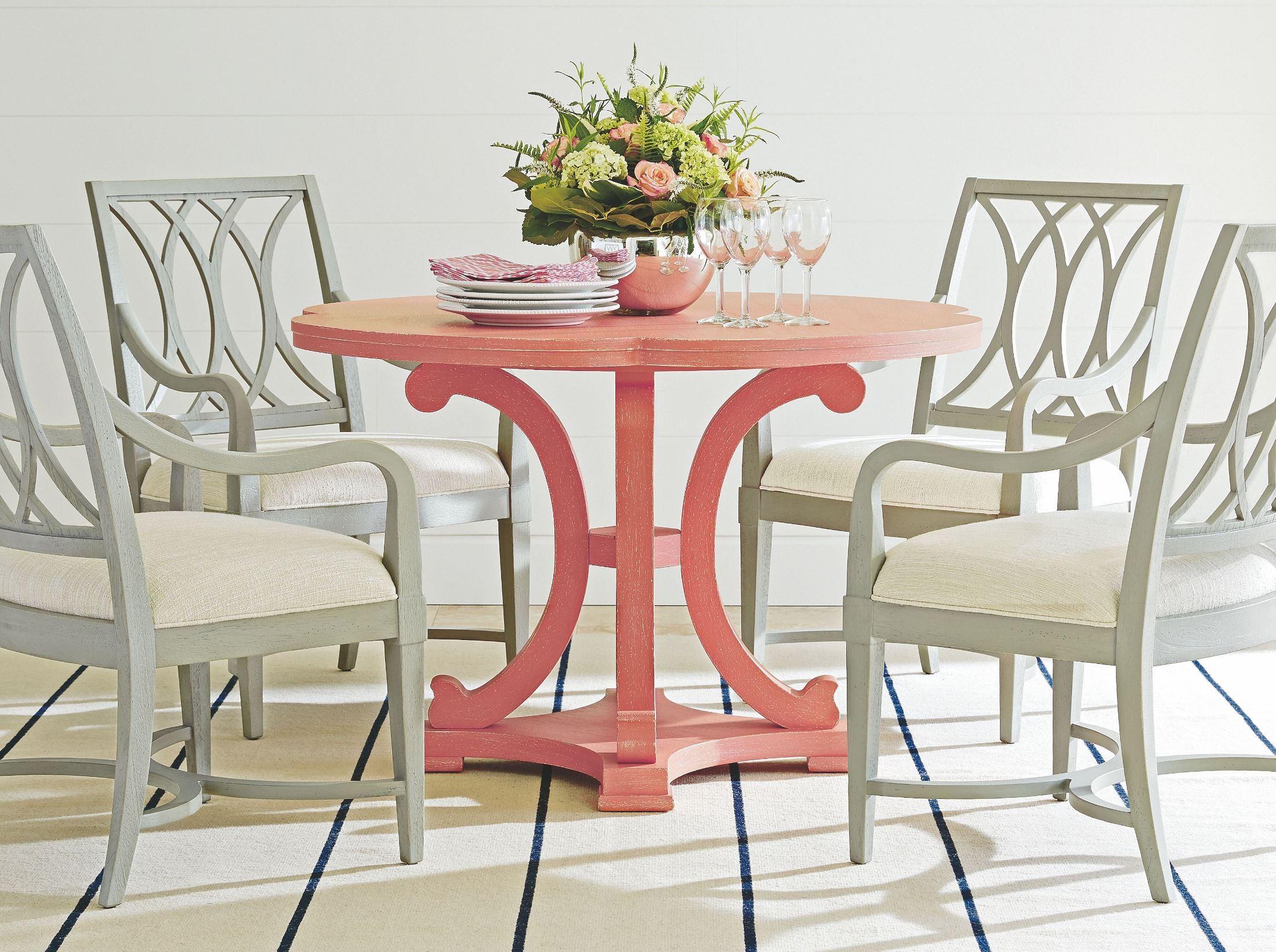 Coastal Living Resort Melon Seascape Round Dining Table