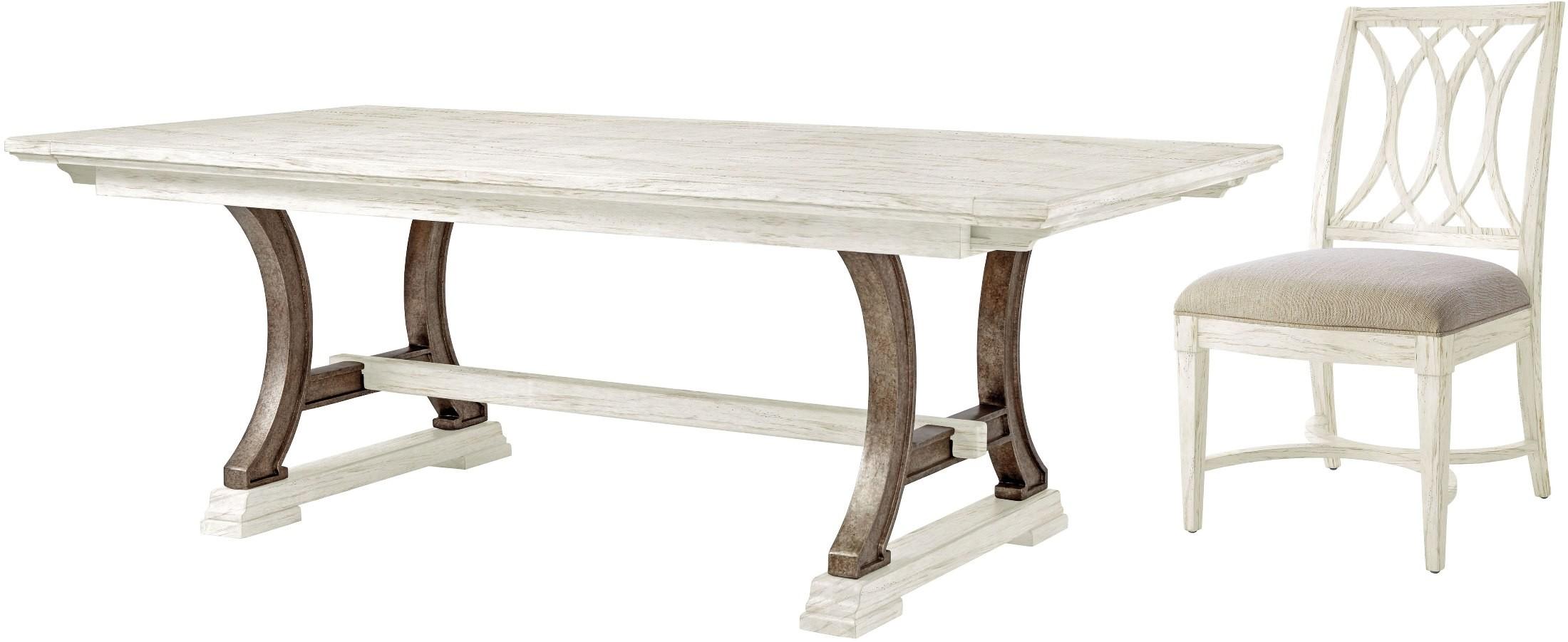 Coastal living dining room furniture