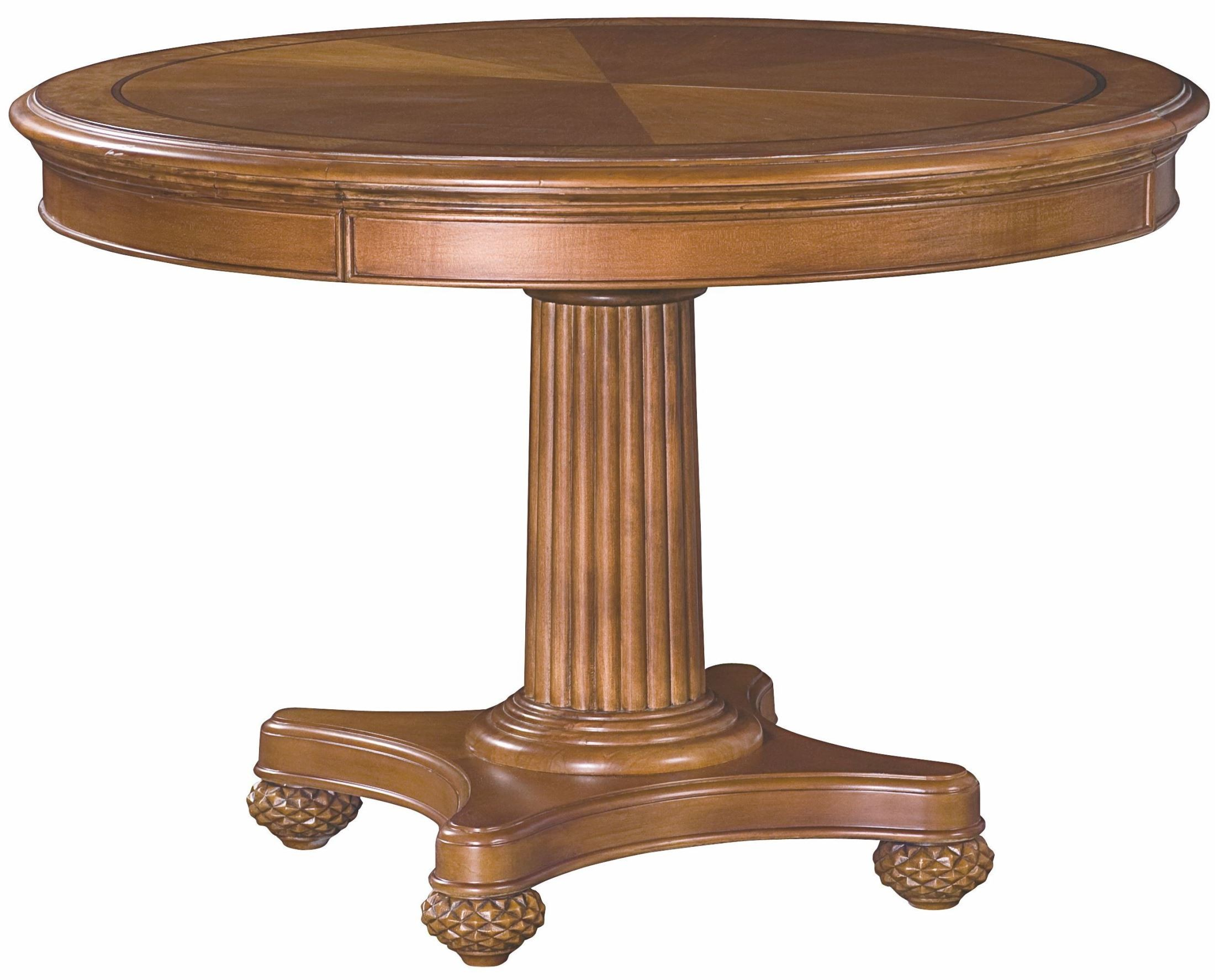 Grand isle amber extendable round dining table from for Grande table