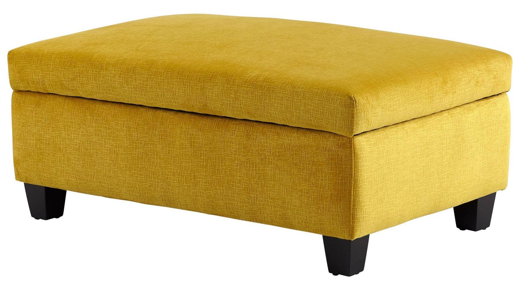 Aldous Yellow Ottoman From Cyan Design