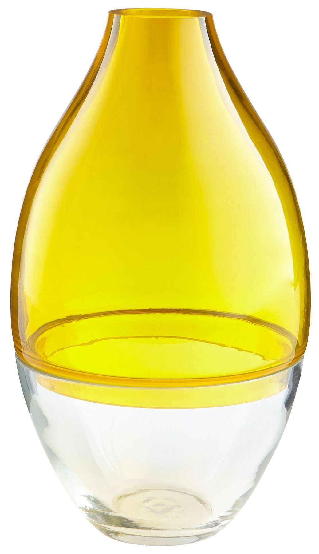Small Mellow Clear Yellow Vase From Cyan Design Coleman Furniture