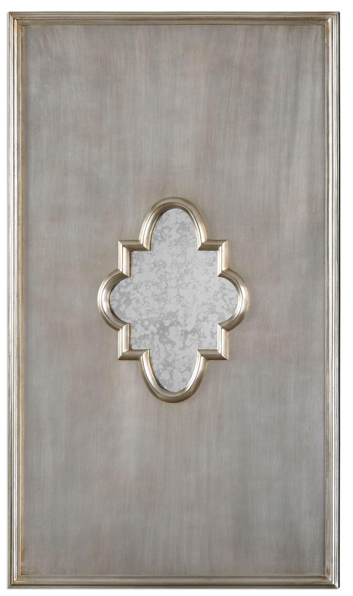 Gardanne Silver Leaf Antique Mirror From Uttermost 9036