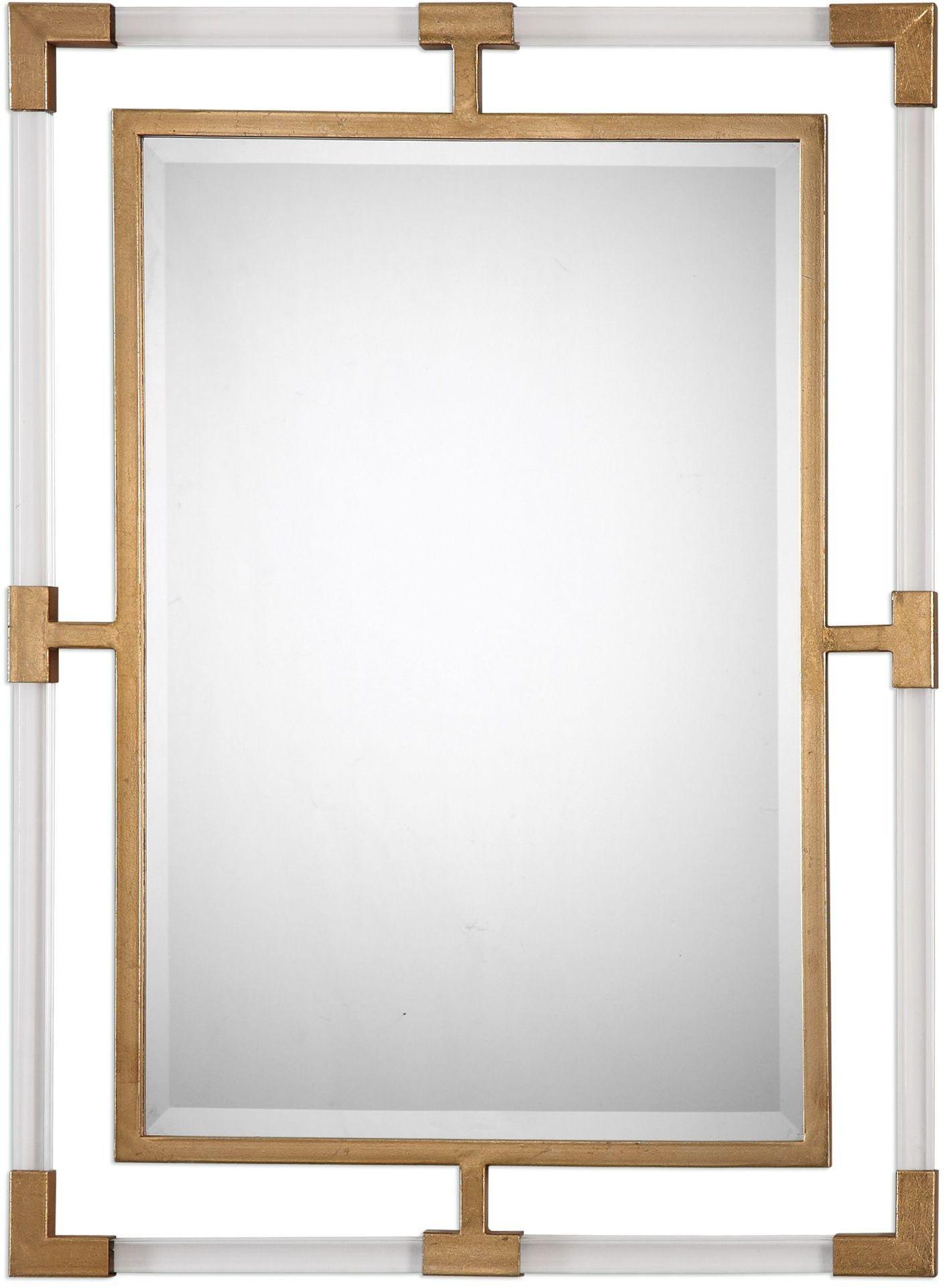 Balkan Modern Gold Wall Mirror From Uttermost Coleman