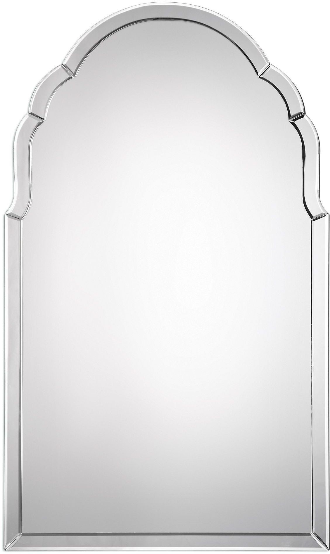 Brayden Silver Frameless Arched Mirror From Uttermost
