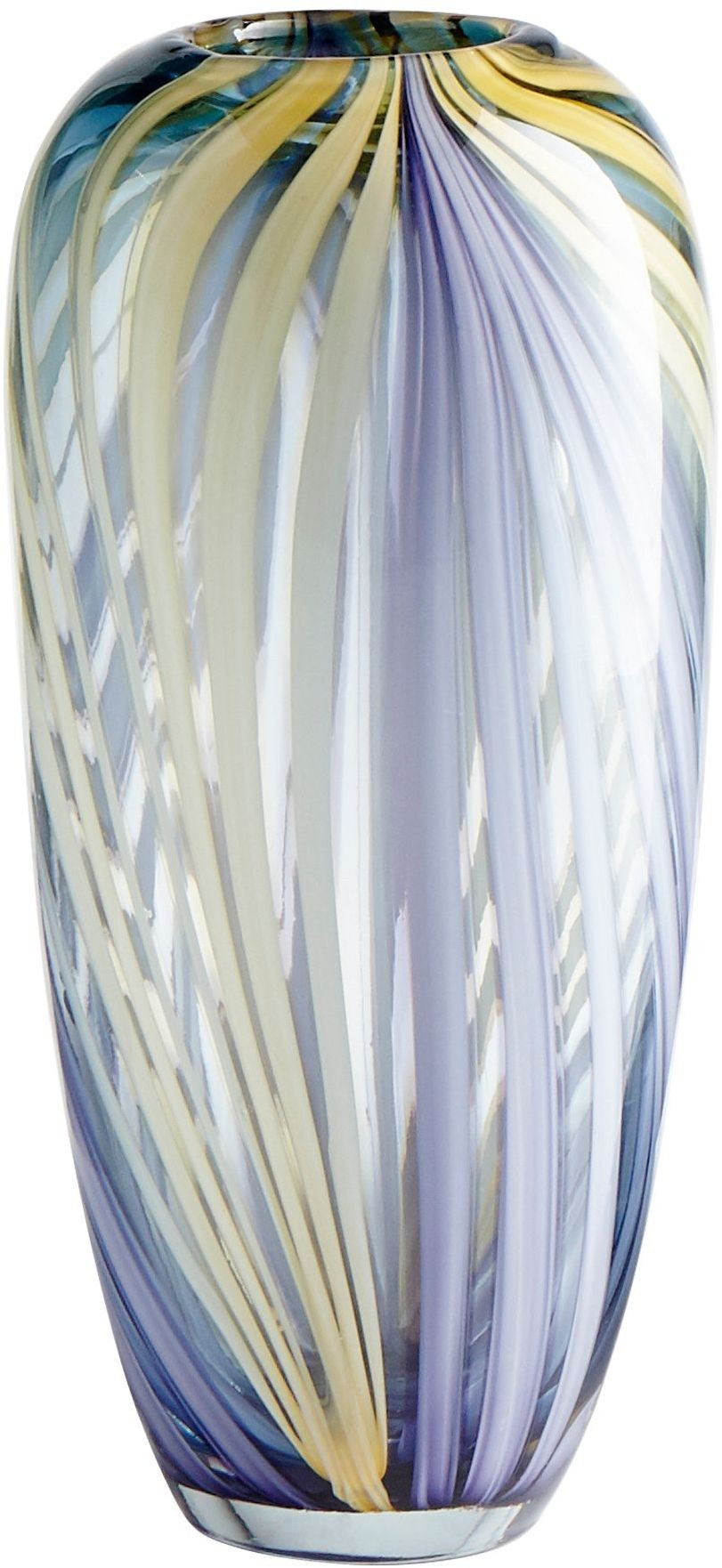 Purple And Yellow Small Rhythm Vase From Cyan Design