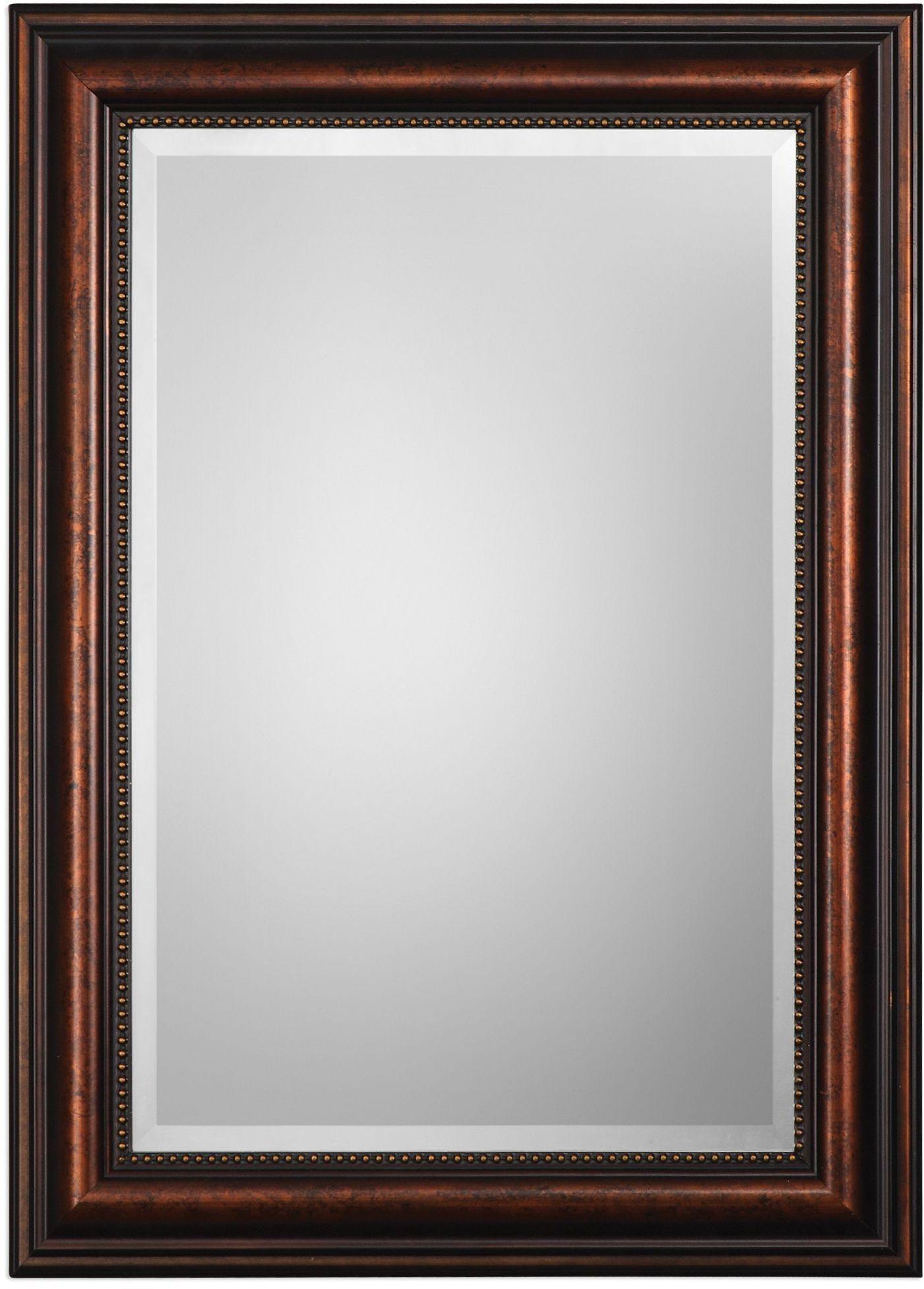 Stuart rubbed bronze mirror from uttermost coleman furniture for Bronze mirror