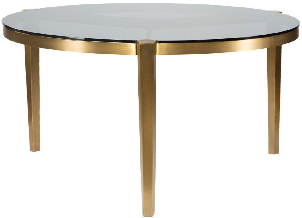 Round Glass Dining Table 48 Inches: Milano White 48'' Round Dining Table From Curations
