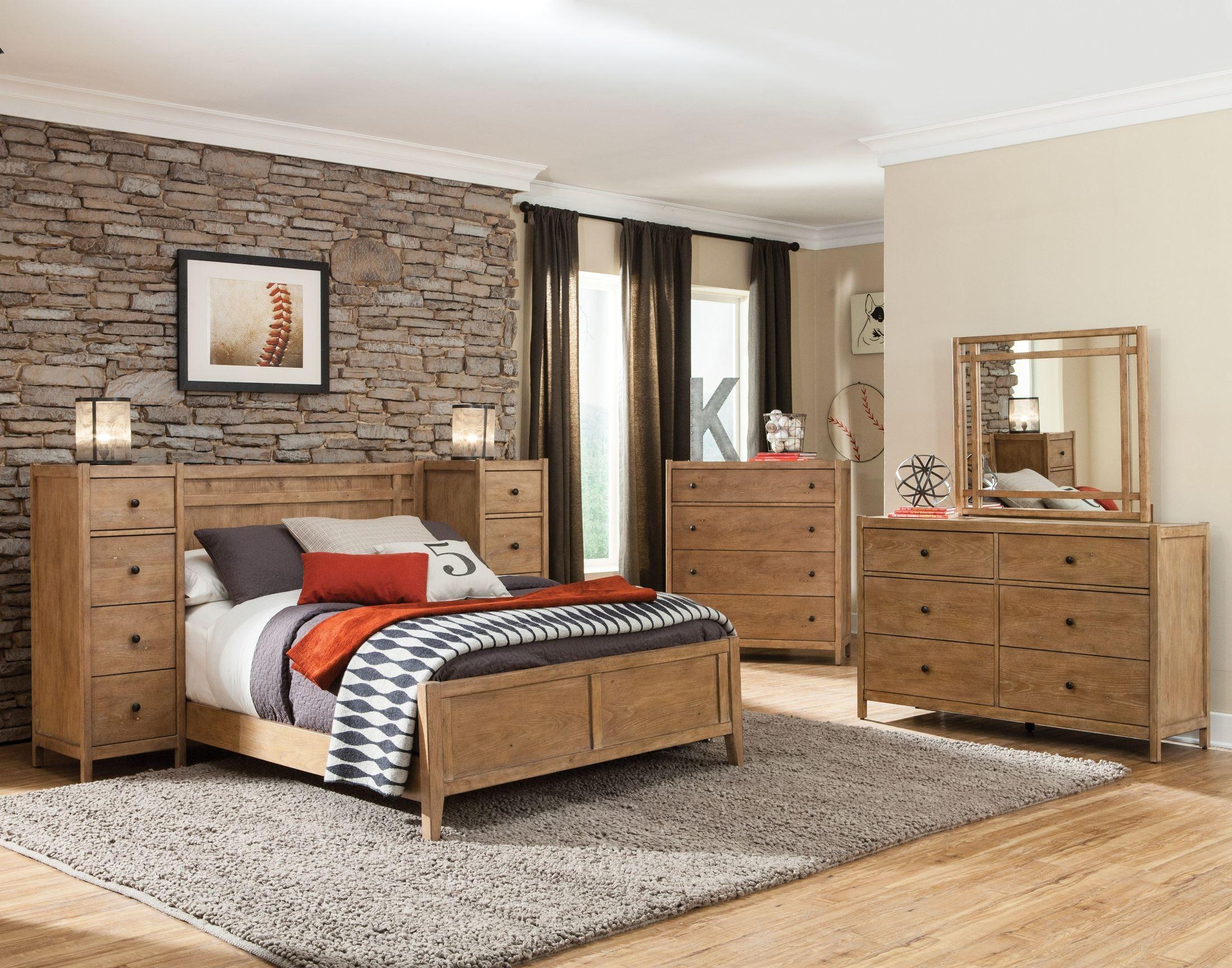 Essentials Driftwood Panel Bedroom Set, 1000-33-PAN