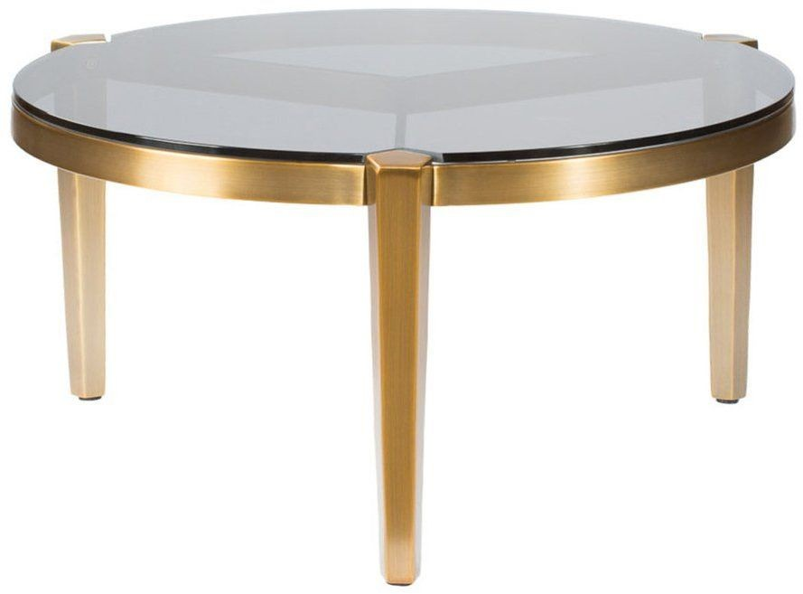 Milano Gold And Silver Medium Coffee Table From Curations Limited Coleman Furniture