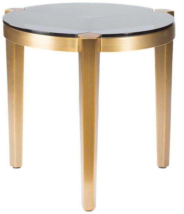 Milano Gold And Silver Small End Table From Curations