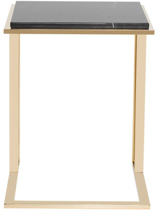 Deco black and gold small side table from curations for Small gold side table