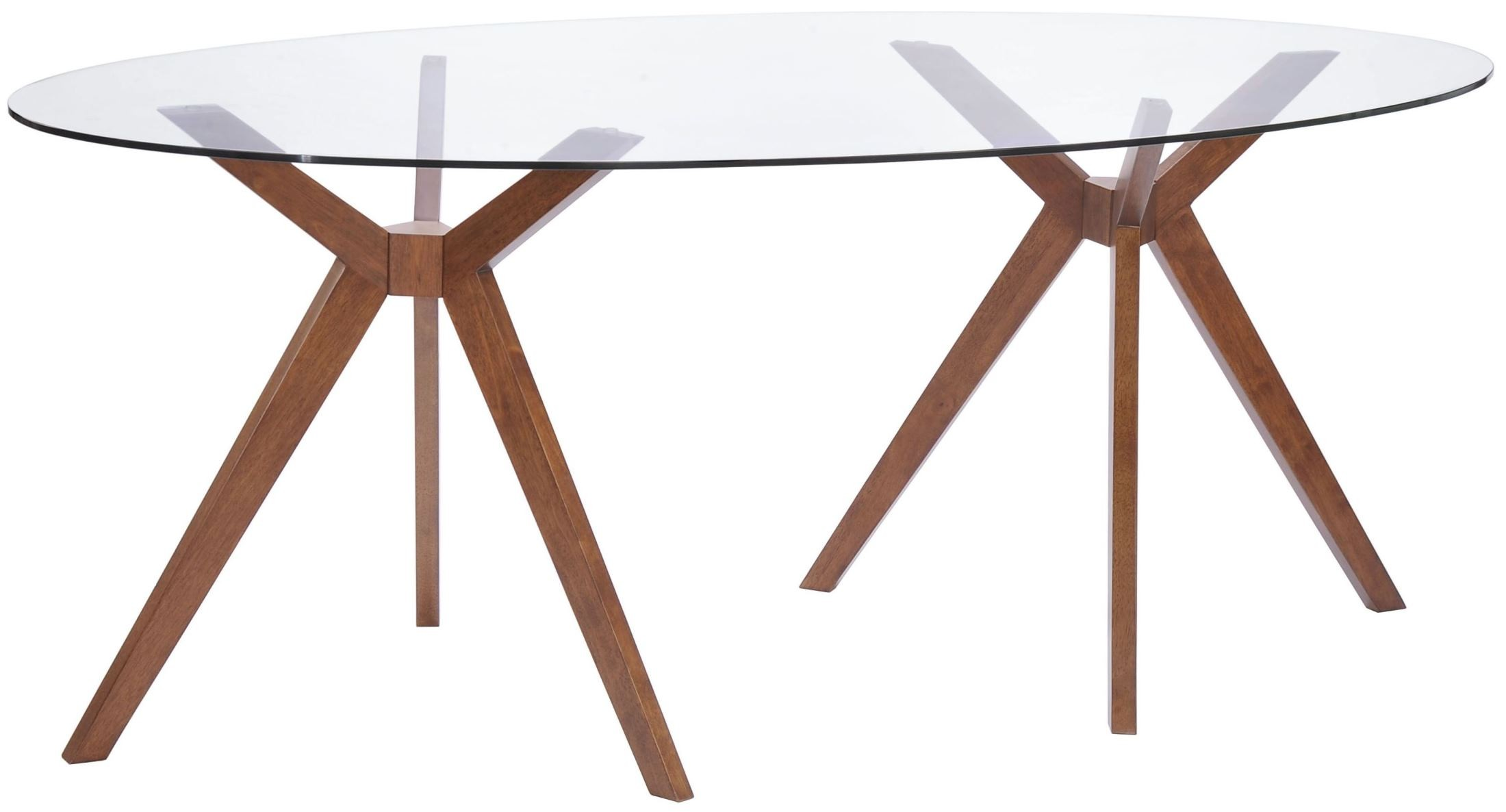 Buena Vista Walnut Oval Dining Table From Zuo Mod 100090
