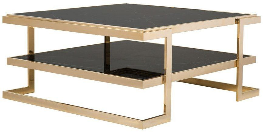 Deco Black And Gold Coffee Table From Curations Limited Coleman Furniture