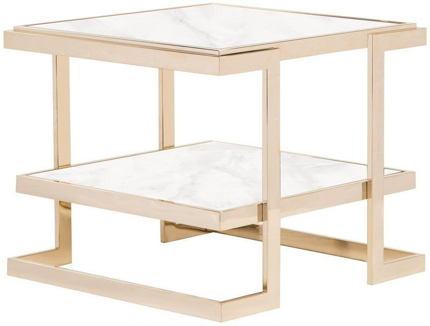 deco white and gold large side table from curations limited coleman furniture. Black Bedroom Furniture Sets. Home Design Ideas
