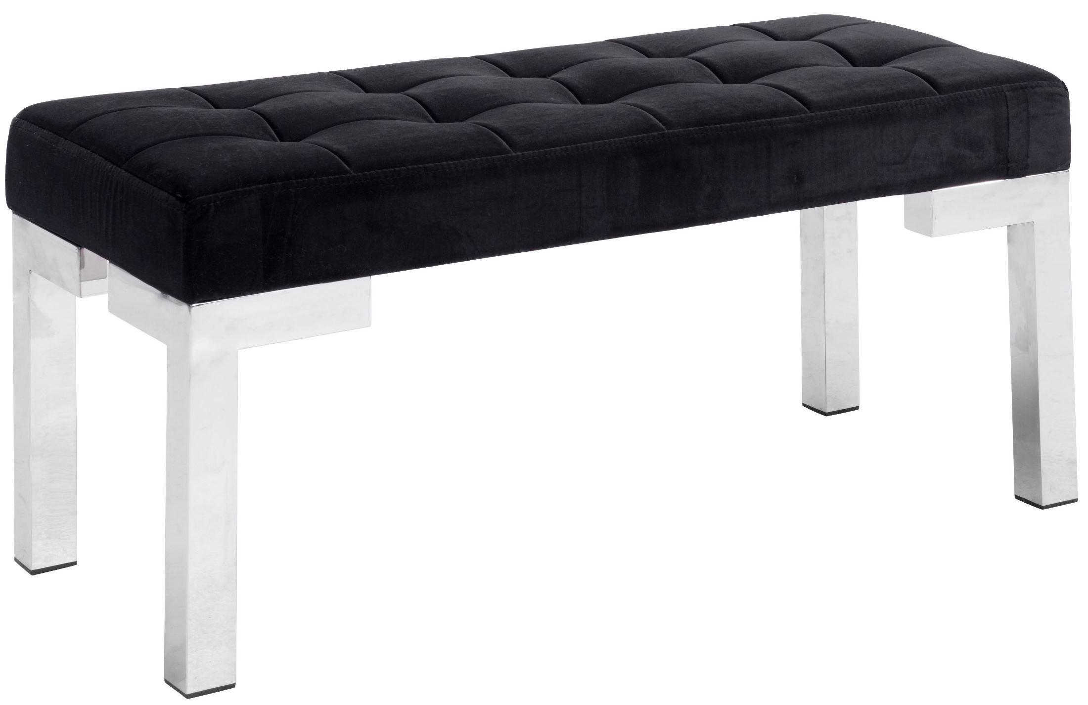 Partner Black Velvet Bench From Zuo Mod 100197 Coleman Furniture