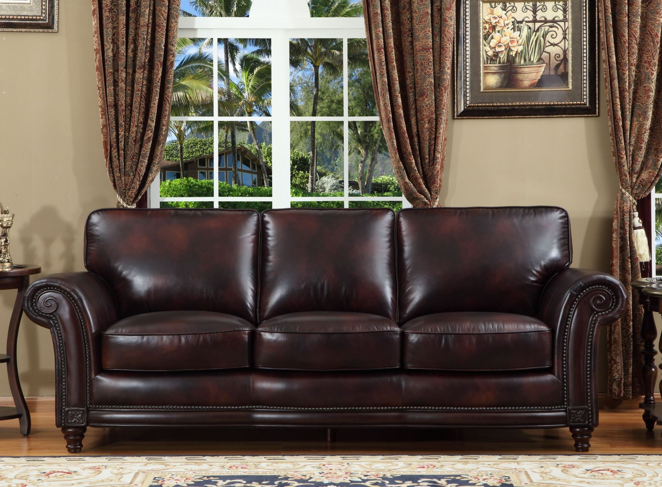 Century Toberlone Leather Sofa From Lazzaro (WH 1002 30 9011B) | Coleman  Furniture