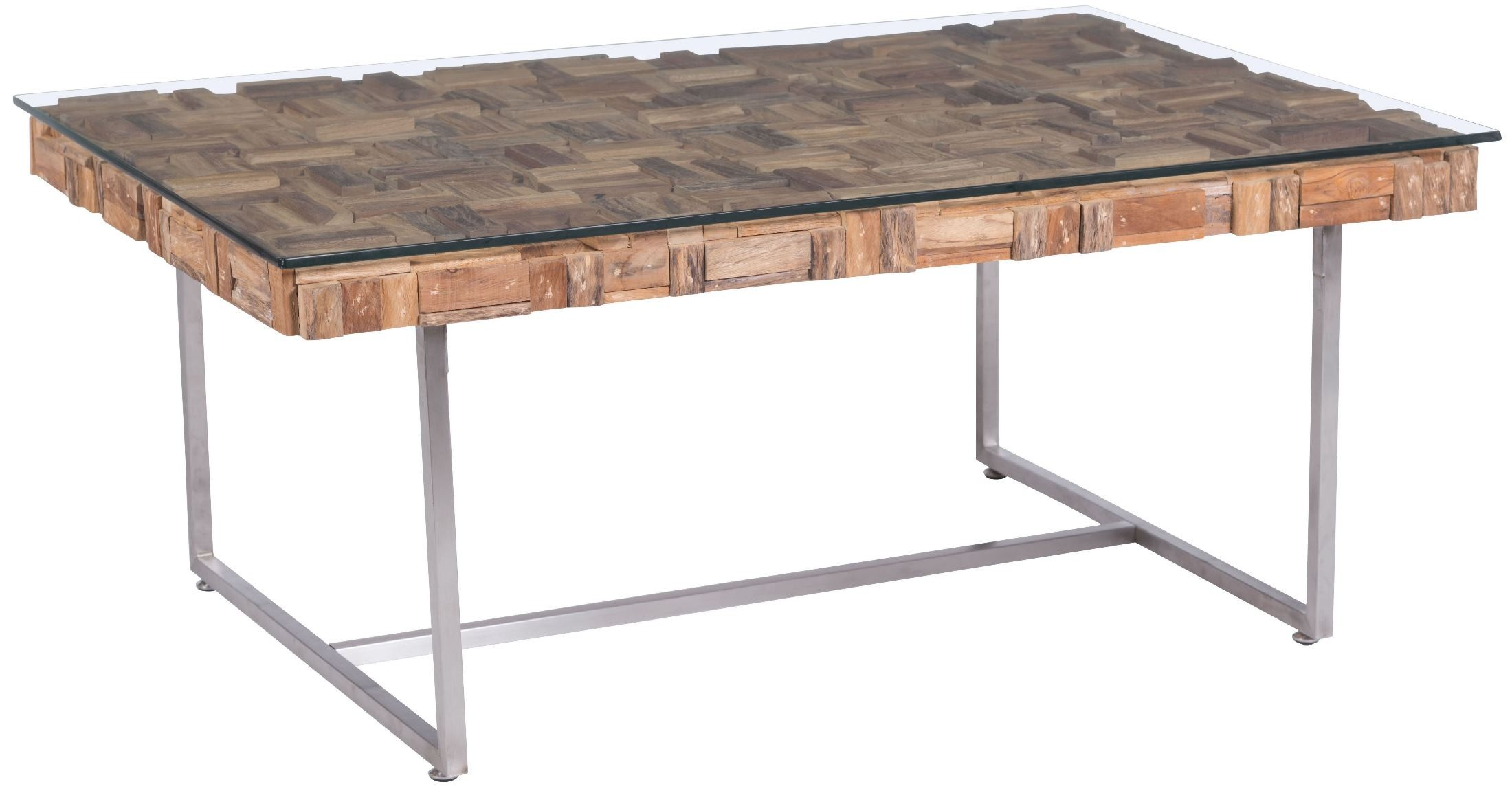 Collage Natural Coffee Table From Zuo Mod 100258 Coleman Furniture