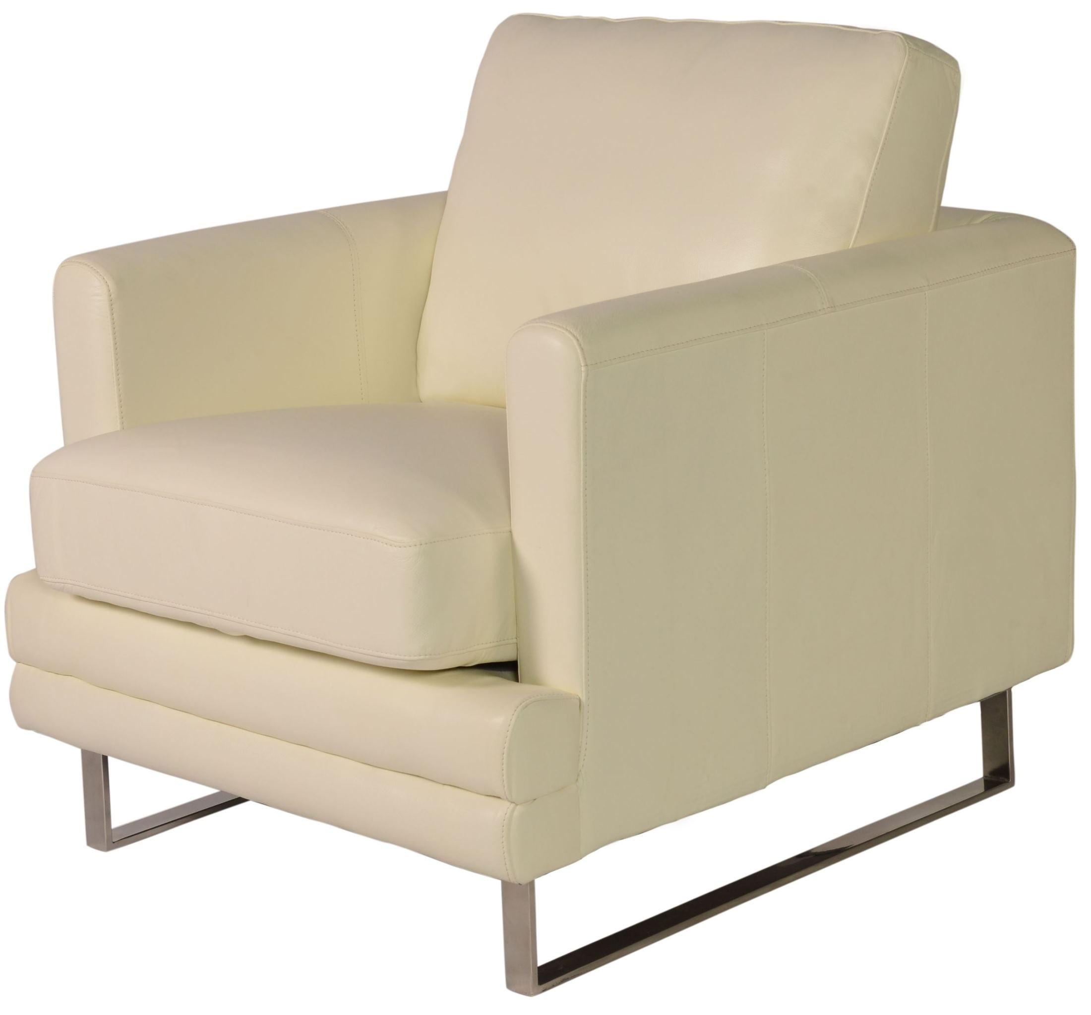 Melbourne White Leather Chair From Lazzaro Wh 1003 10