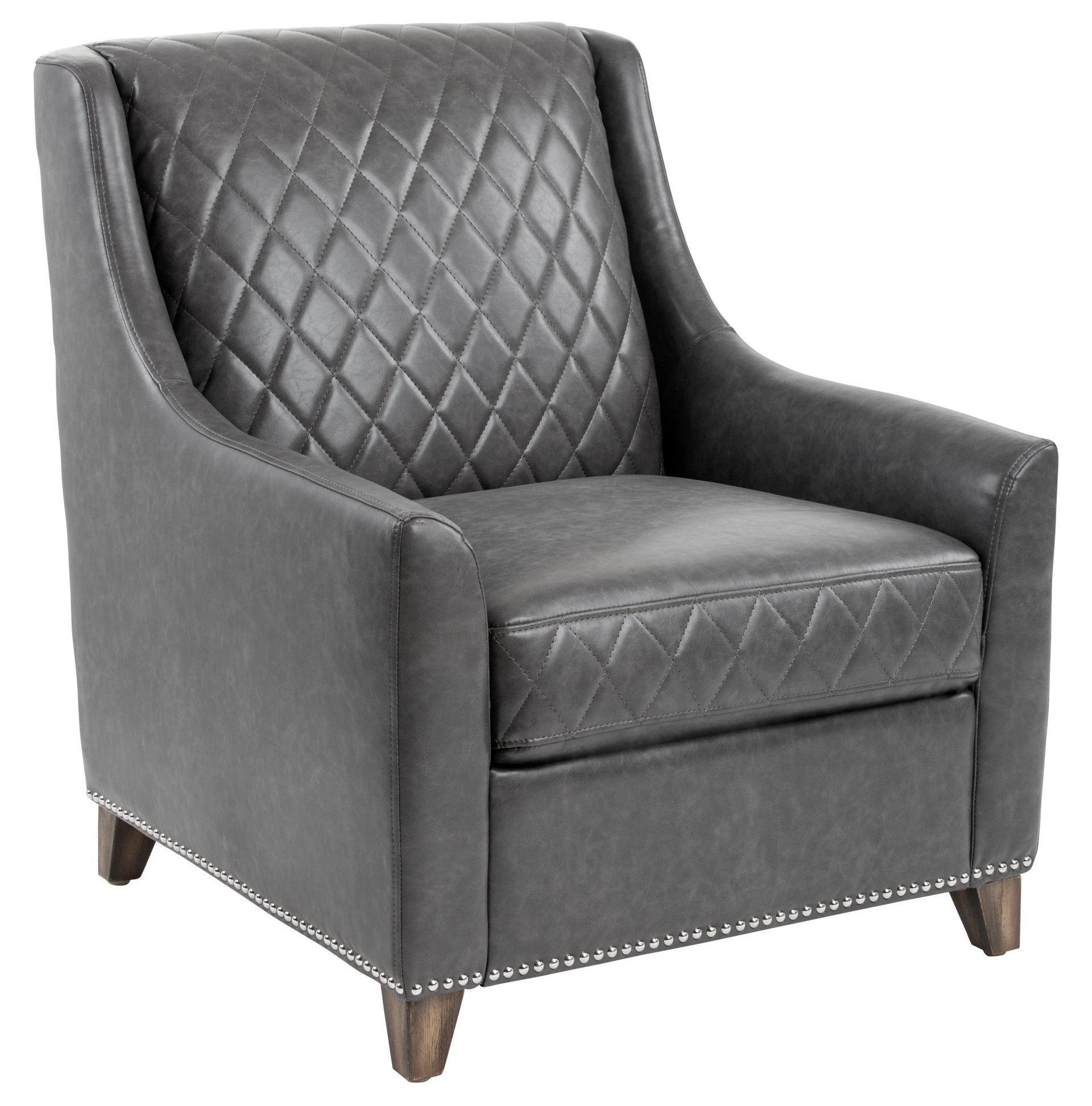 Bergamo Ash Gray Bonded Leather Armchair from Sunpan ...