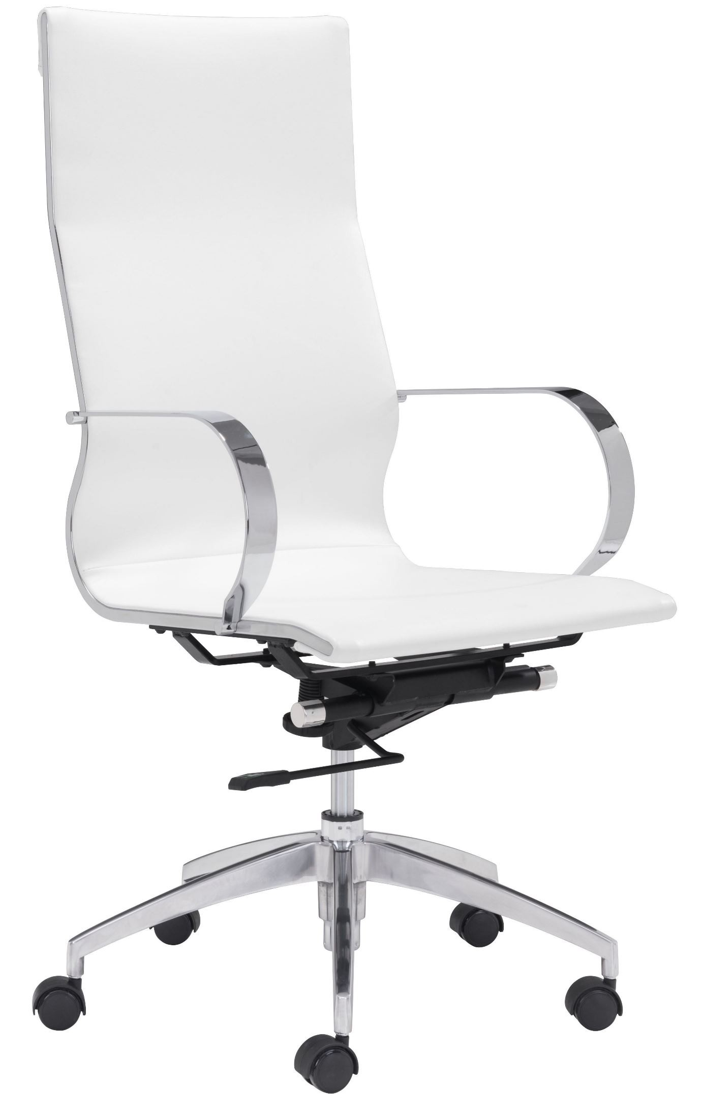 glider white high back office chair from zuo mod 100372 coleman furniture. Black Bedroom Furniture Sets. Home Design Ideas