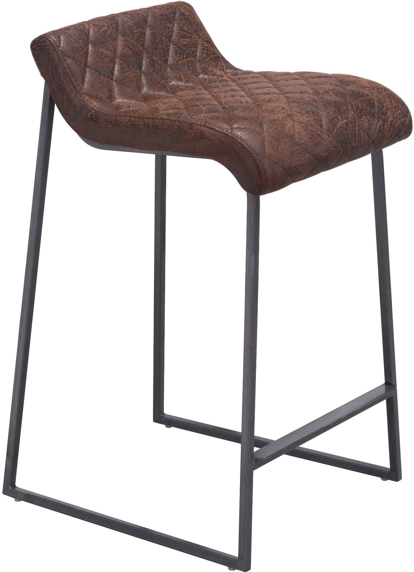 Father Vintage Brown Counter Stool Set of 2 from Zuo