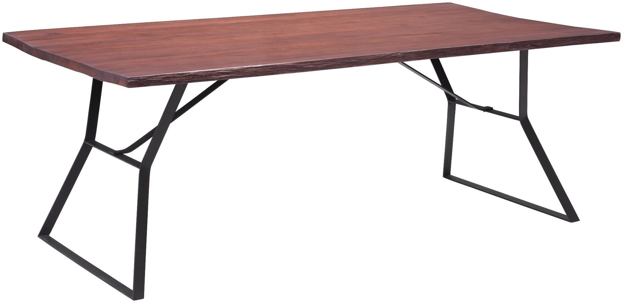 Omaha distressed cherry oak dining table from zuo for Cherry dining table