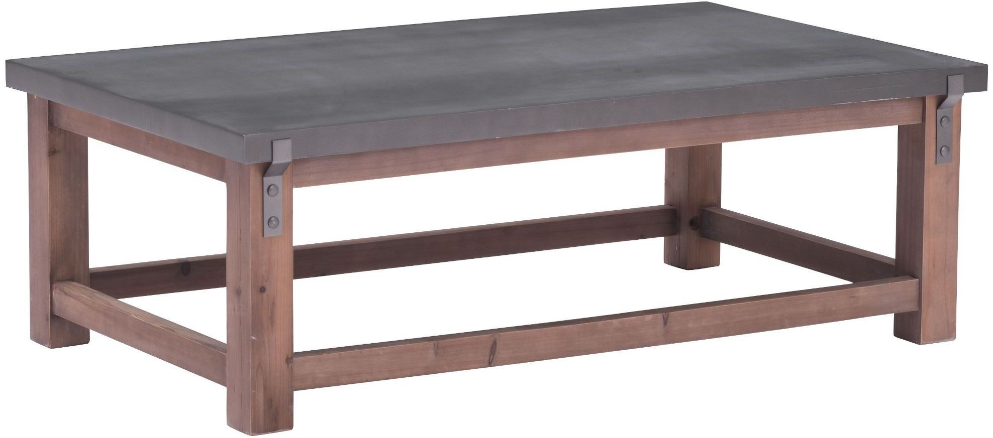 Greenpoint gray and distressed fir coffee table from zuo for K furniture coffee table