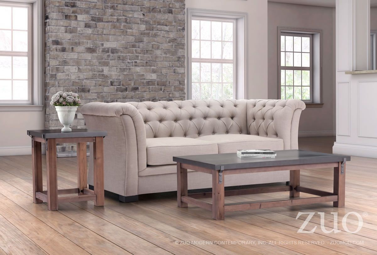 Greenpoint Gray And Distressed Fir Occasional Table Set From Zuo Coleman Furniture