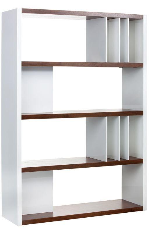 Lauderdale High Gloss White Bookcase, 100584, Sunpan