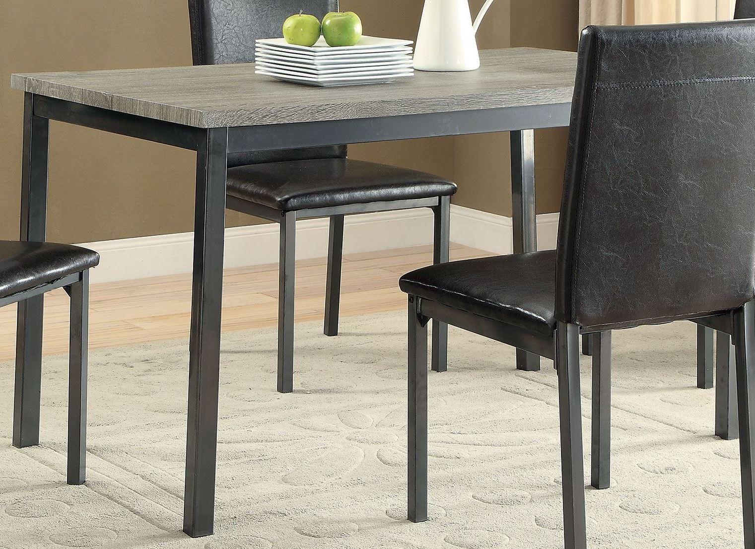 garza black dining table from coaster coleman furniture. Black Bedroom Furniture Sets. Home Design Ideas