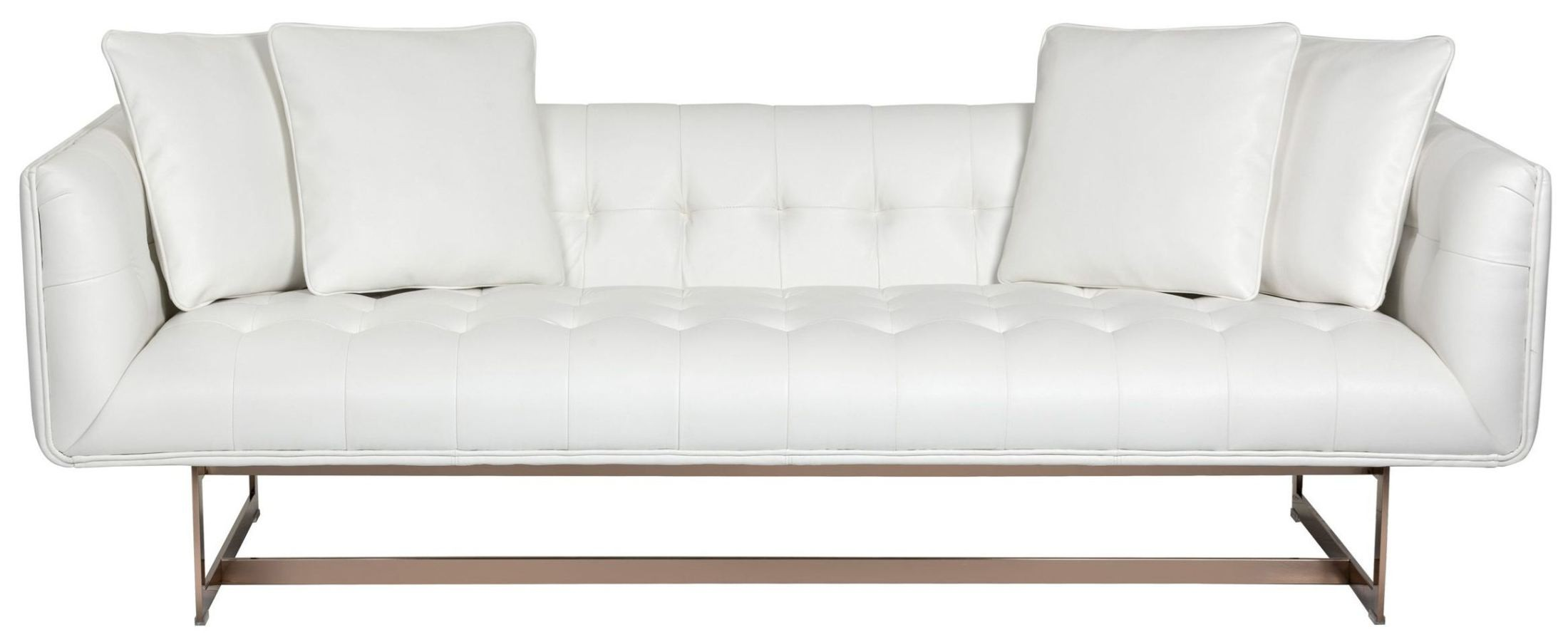 Matisse white leather sofa from sunpan coleman furniture for White leather sofa