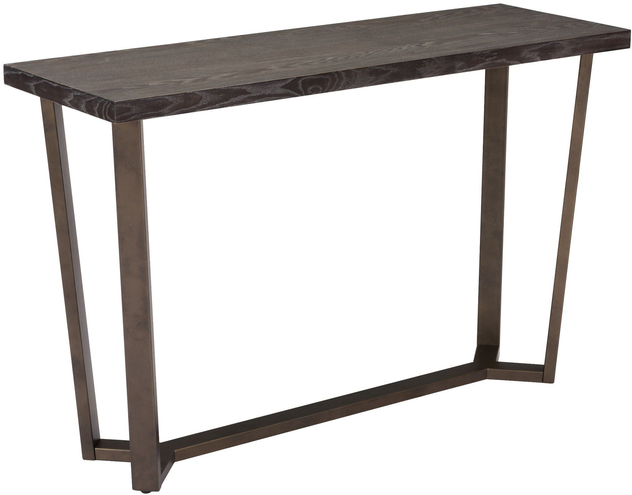 Brooklyn Grey Oak And Antique Brass Steel Console Table From Zuo Coleman Furniture