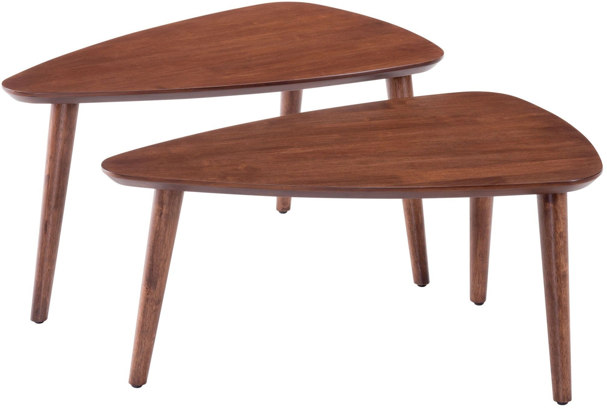 Koah walnut nesting tables from zuo coleman furniture