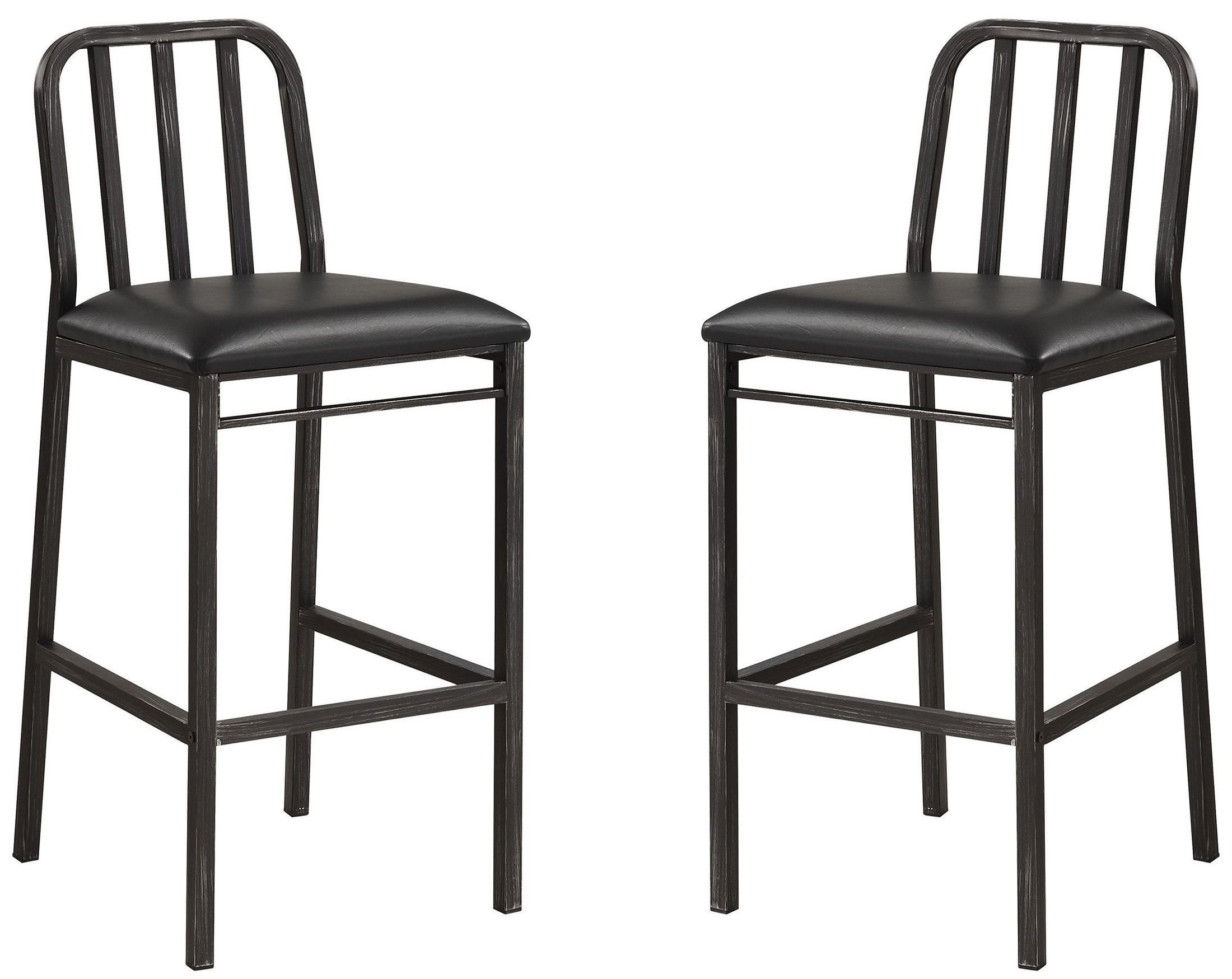 Dark Rustic Bar Stool Set Of 2 From Coaster Coleman Furniture