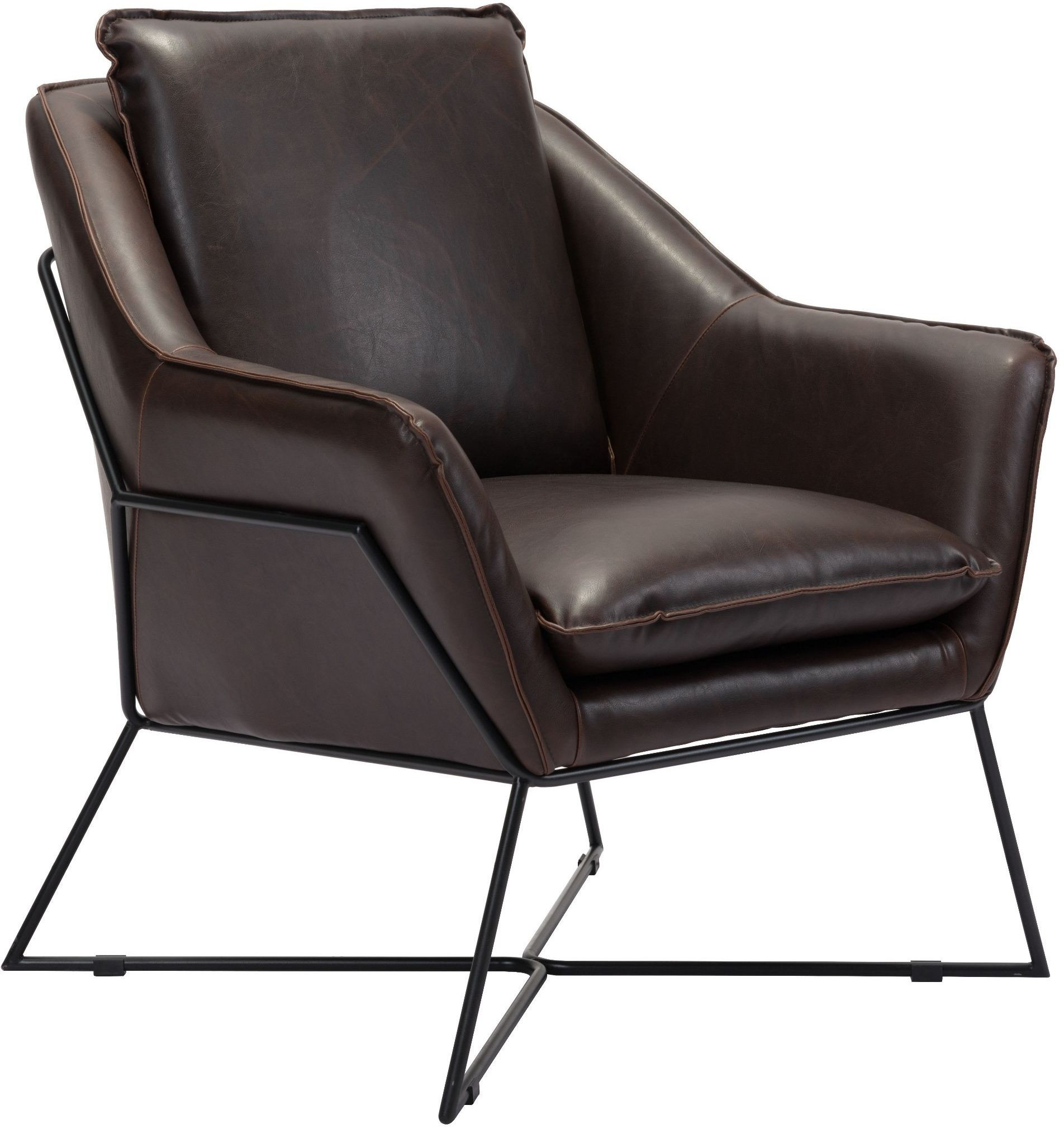 Lincoln Brown Lounge Chair From Zuo Coleman Furniture