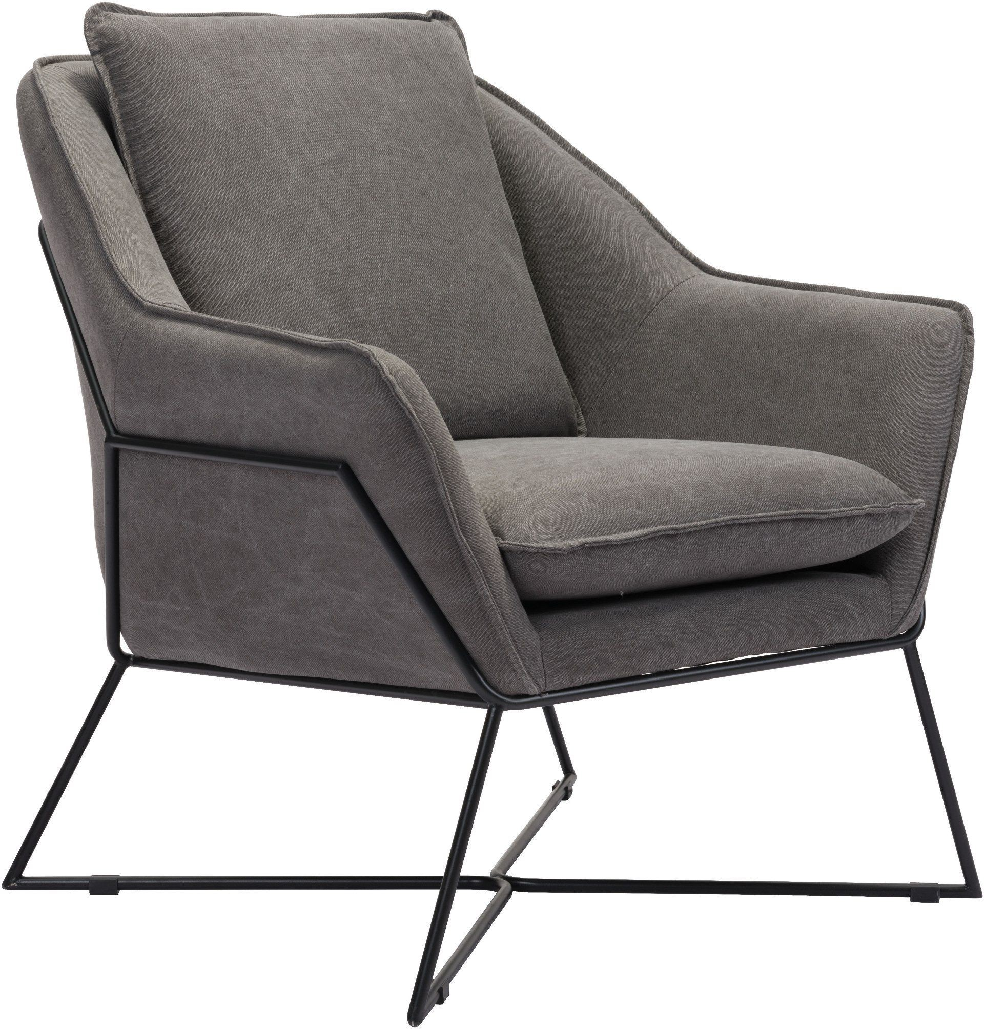 Lincoln Gray Lounge Chair Zuo Modern