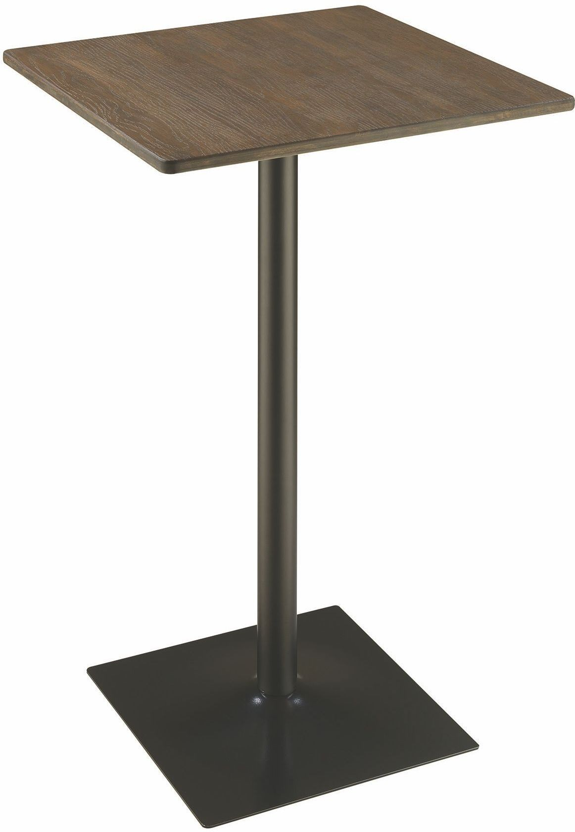 Rec Room Dark Elm and Matte Square Black Bar Table from Coaster ...